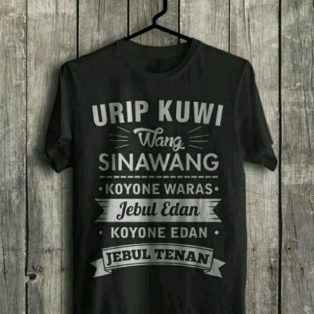 Kaos Jawa Baju Kata Bijak Bahasa Jawa Hitam Size S Xxl Shopee