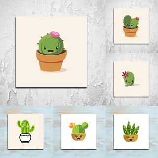 hiasan dinding kaktus shabby pajangan unik cute cactus