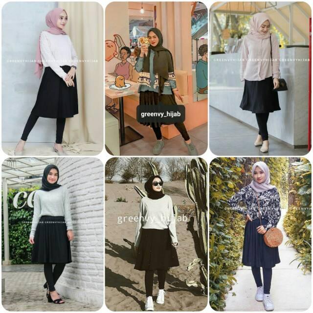 Skirt Legging Legging Rok Greenvy Hijab Shopee Indonesia