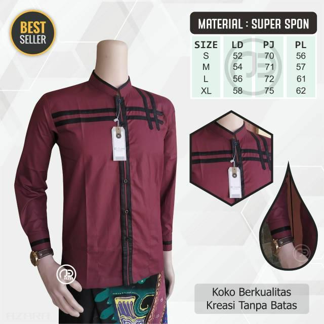 Baju Koko Azzahir Terbaru 2020 Baju Koko Modern Terlaris Koko Gus Azmi Shopee Indonesia