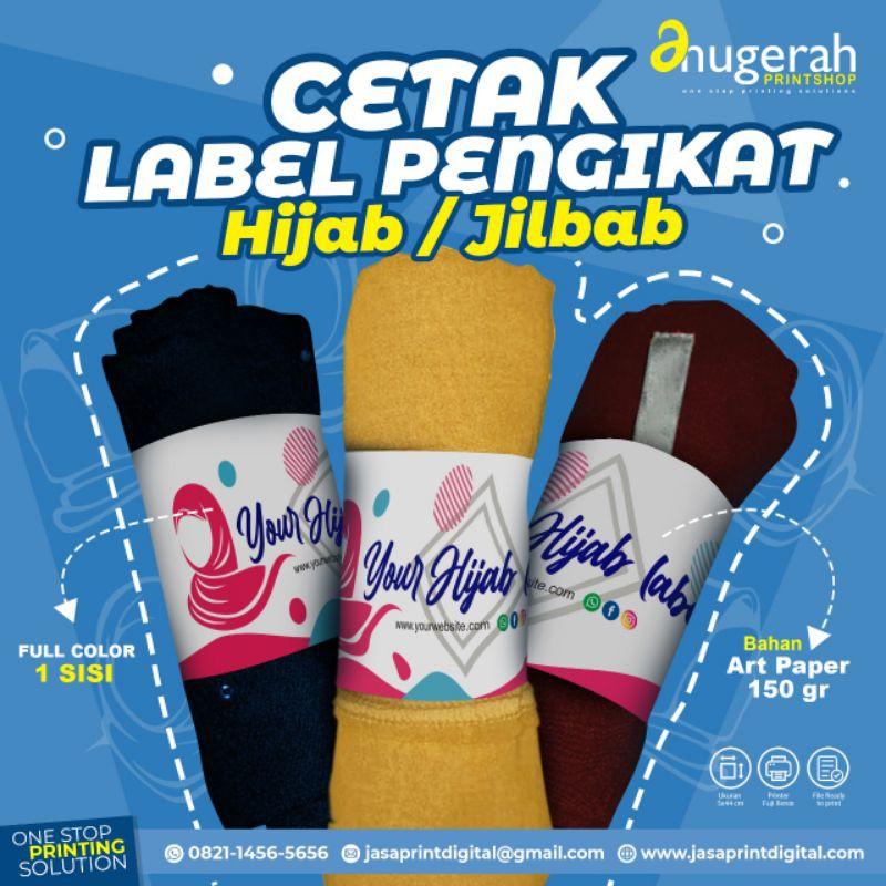 Label Pengikat Hijab Jilbab Roll Roller Hijab Kertas Custom Shopee Indonesia