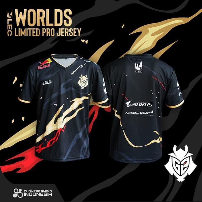 Jersey G2 Esports Worlds Edition Limited - Baju Kaos Gaming Esports - M