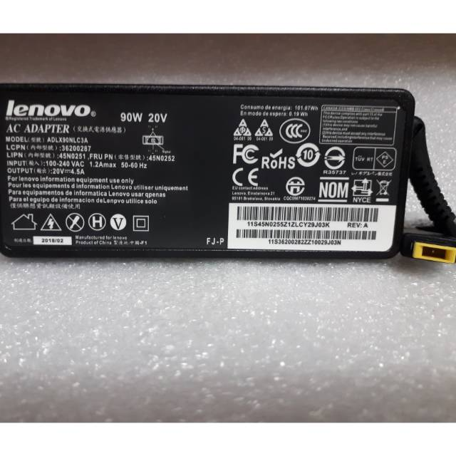 Adaptor Laptop Lenovo 20 Volt 4 5 Ampere 11x5 Mm Replacement Good Quality Klzjk23087 Shopee Indonesia