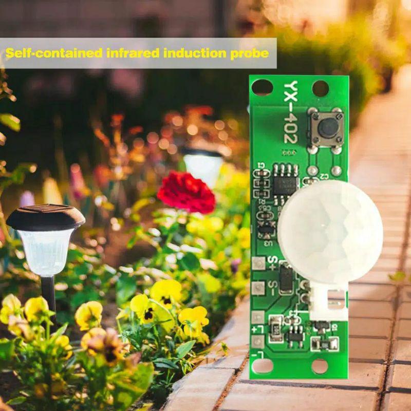 Modul Kit Board Diy Lampu Malam Sorot Pju Otomatis Tenaga Surya Sensor Gerak Pir Shopee Indonesia