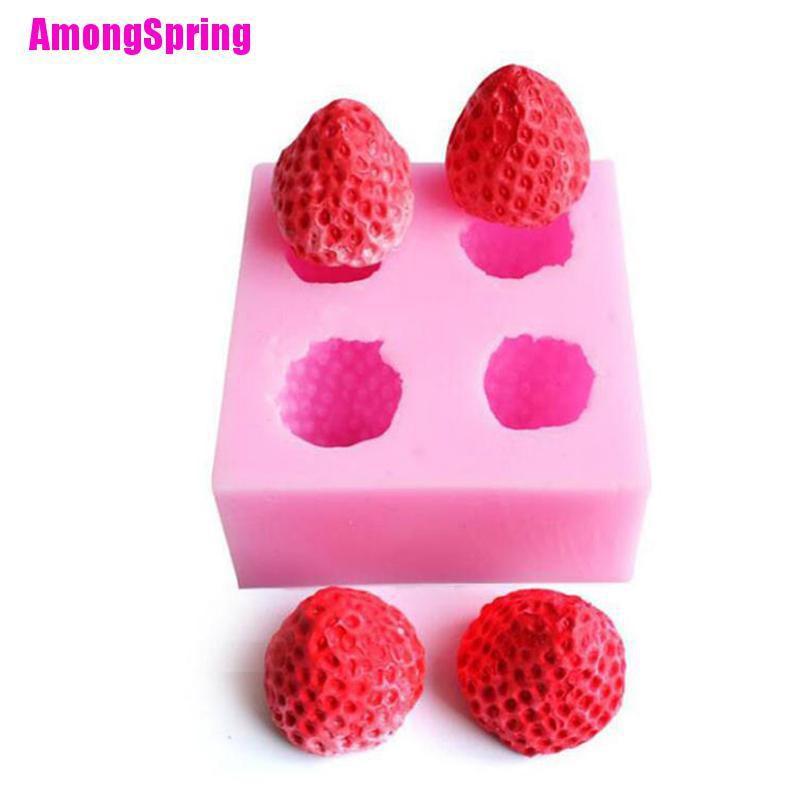Amongspring Strawberry Silicone Mould Fondant Icing Wedding Cake Mold Cake Decorating Tools Shopee Indonesia