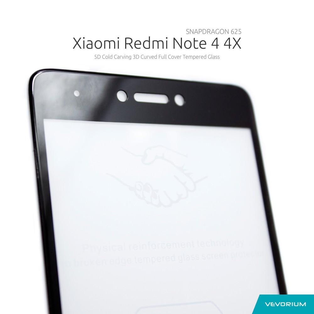 TEMPERED GLASS 5D Xiaomi Redmi Note 4 4X full screen anti gores screen guard 4D | Shopee Indonesia