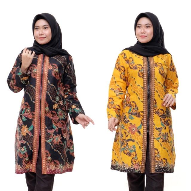 Model Baju Batik Wanita Terbaru 2020 Atasan Lengan Panjang Tunik Wanita Busui Friendly Menyusui Shopee Indonesia