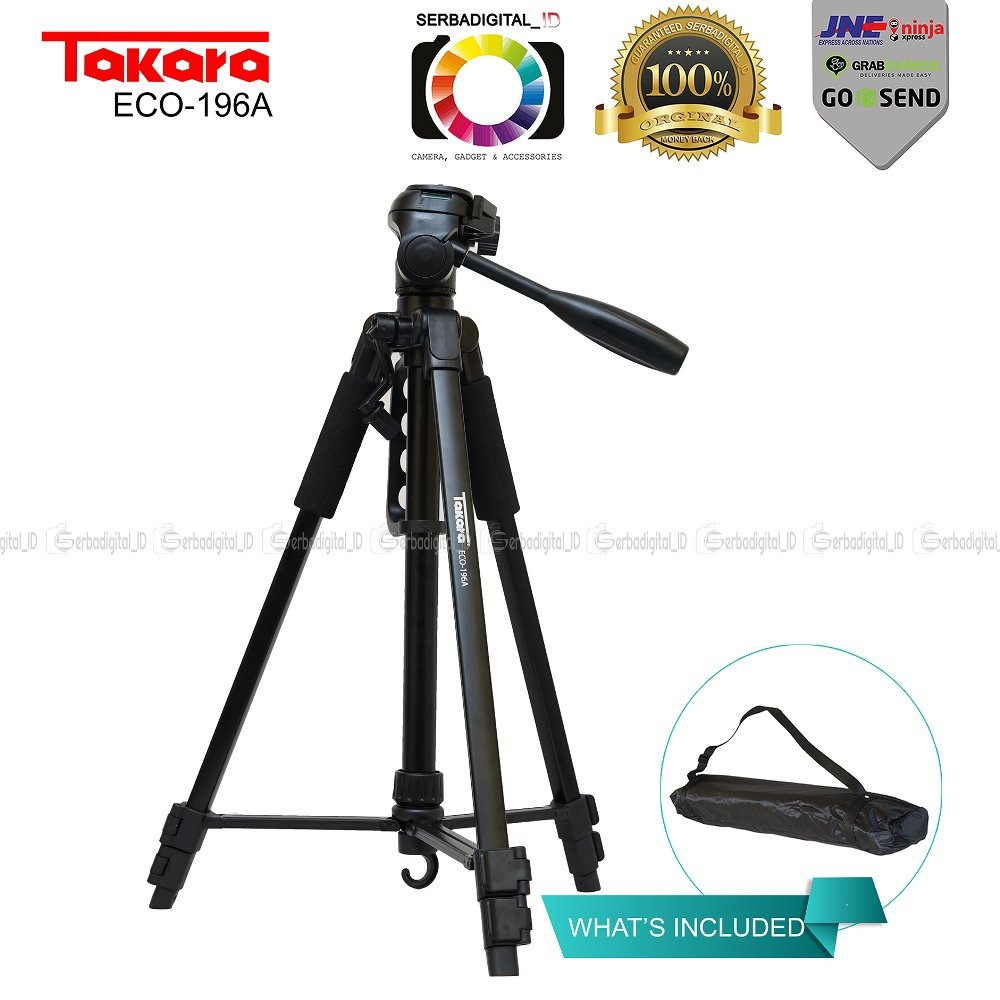Takara Eco 196a Lightweight Tripod With Bagholder For Smartphone Light Stand Spirit 3 Studio Tipe Air Cushion Pegas Angin Cameravideo Shopee Indonesia