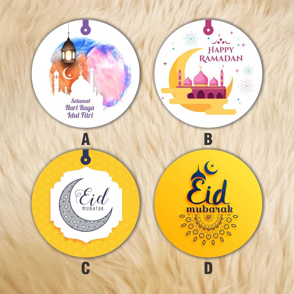 Stiker ucapan label hadiah parcel hari raya idul fitri ramadhan bulat shopee indonesia
