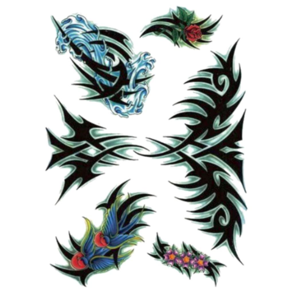 Mc714 tattoo sticker body art birds girl flowers temporary shopee indonesia