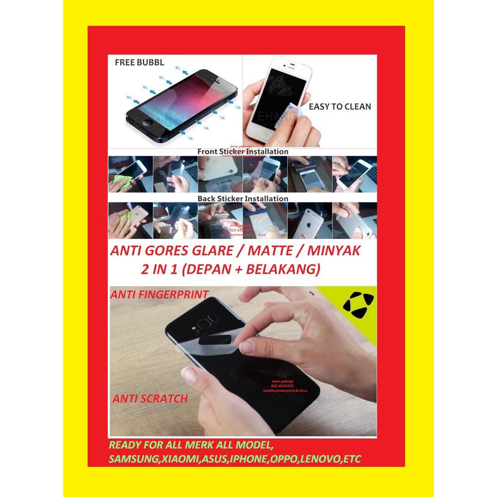 DEPAN BELAKANG 2 in 1 ANTI GORES GLARE IPHONE 5 5G 5S SCREEN GUARD PROTECTOR PELINDUNG LAYAR 000780   Shopee Indonesia
