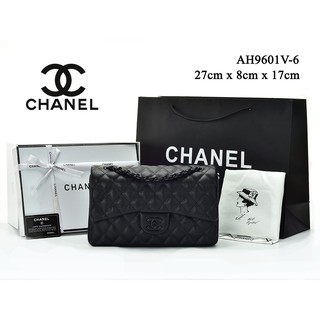 e7e5c6040396 TAS BRANDED IMPORT MURAH- Tas Chanel Classic So Black Medium Caviar HITAM  Semi Premium 9601