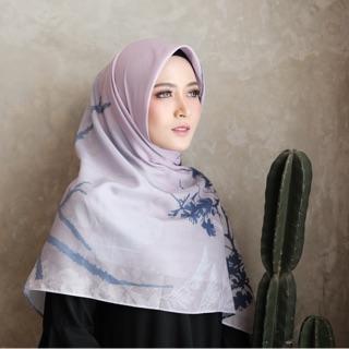 Hijab voal printed scarf Cressa/Hijab segiempat voal print/jilbab segiempat motif