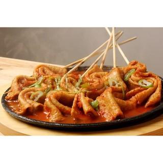 Odeng Eomuk Fish cake Rasa Spicy dikit 200 gram sets sama saus, Murah Enak sekali