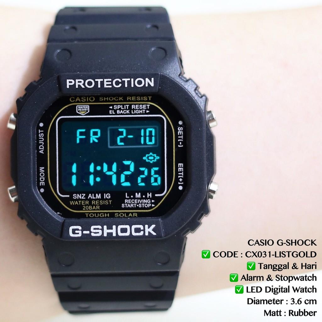 FLASH SALE Jam tangan casio gshock wanita pria kode DW5600 digital anti air CX031