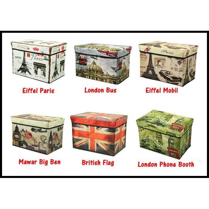 Nadaga Box Duduk Kotak Penyimpanan Box Mainan Tempat Penyimpanan Barang AJ8 . Source · CLUB PARIS Stackable Storage Box .