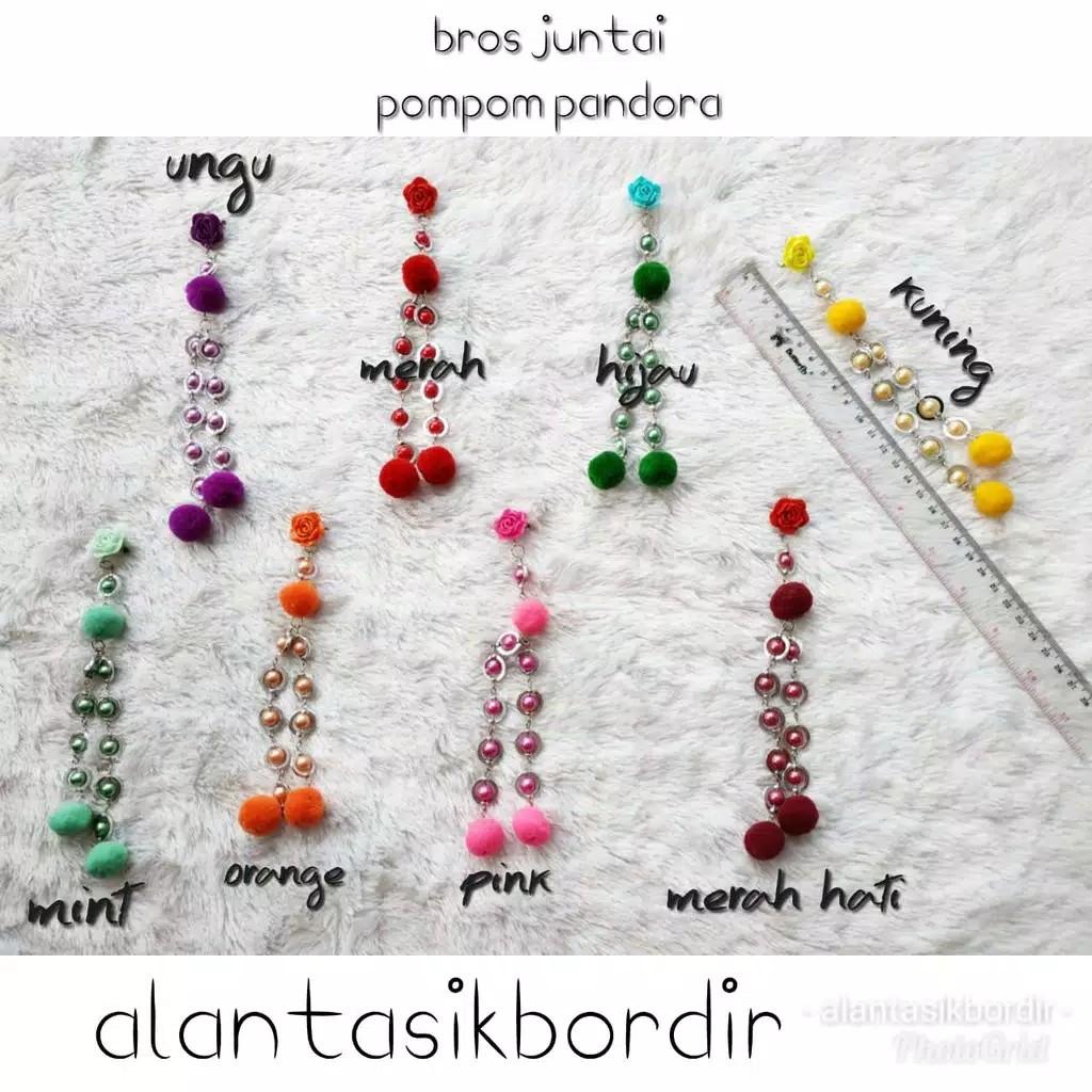 Bros Jilbab Bross Hijab Khimar Juntai Bola Cincin H3 Shopee Dagu Pompom Woll Indonesia