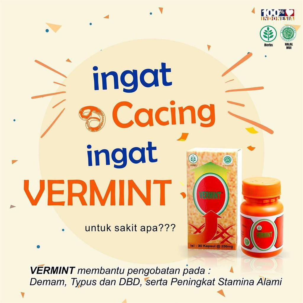 Vermint Isi 30 Kapsul Ekstrak Cacing Obat Typus Dan Demam Shopee Indonesia