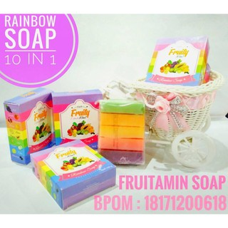 Lucky Wink White Fruitamin Soap 10 In 1 100gr 1pcs Red Pome Lotion .