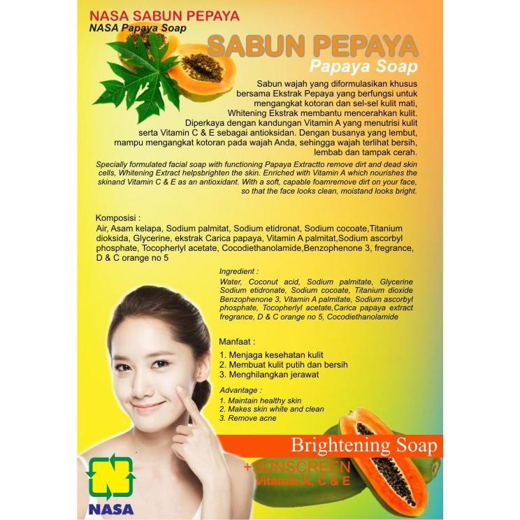 Sabun Papaya Nasa Original Shopee Indonesia