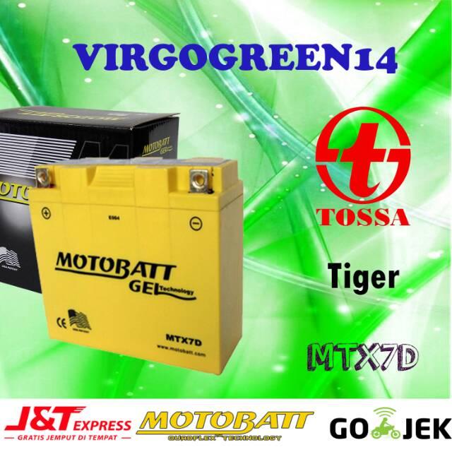 Aki Motor Tossa Tiger Motobatt MTX7D aki kering