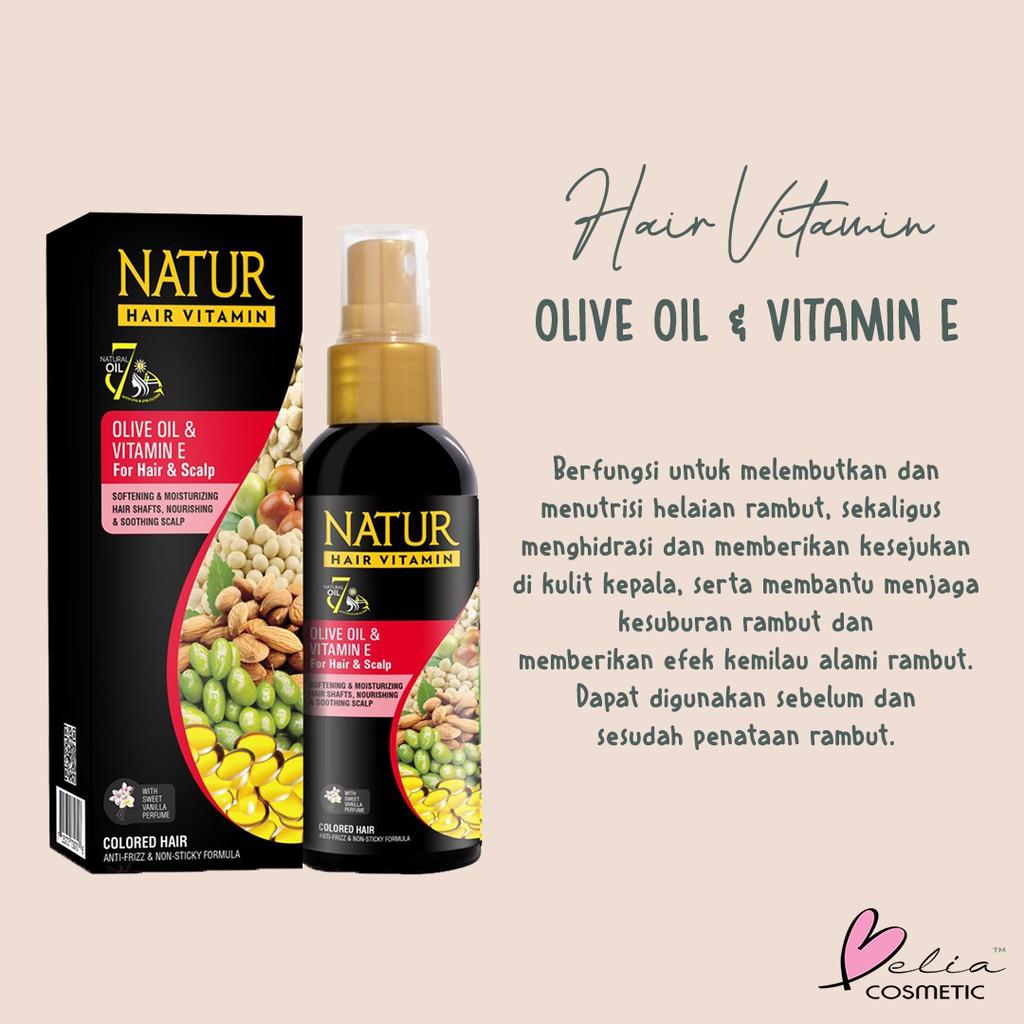 ❤ BELIA ❤ NATUR Hair Mask   Hair Vitamin   2 in 1 Shampoo & Hair Tonic(✔️BPOM)-3