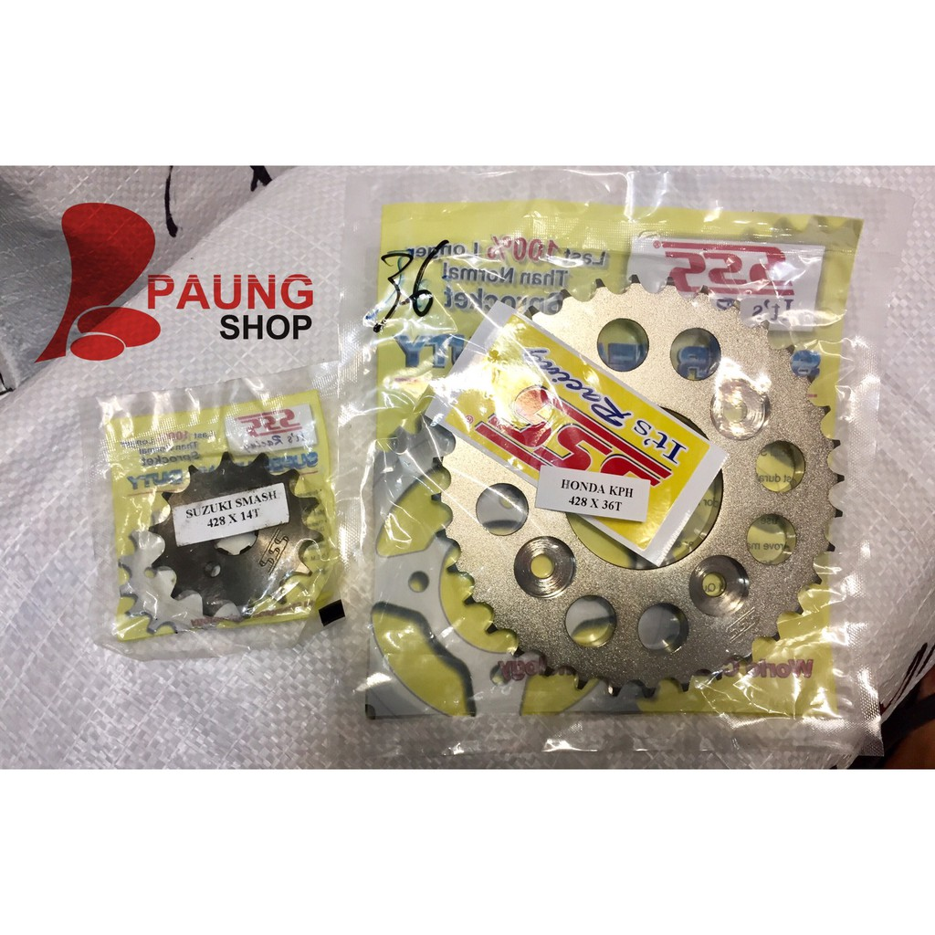 Gear Sss 428 Rx King Jupiter Z Mx Vega Fizr Zr Ger Gir Belakang 36 37 38 39 40 New Set Sepaket Rantai Original Shopee Indonesia