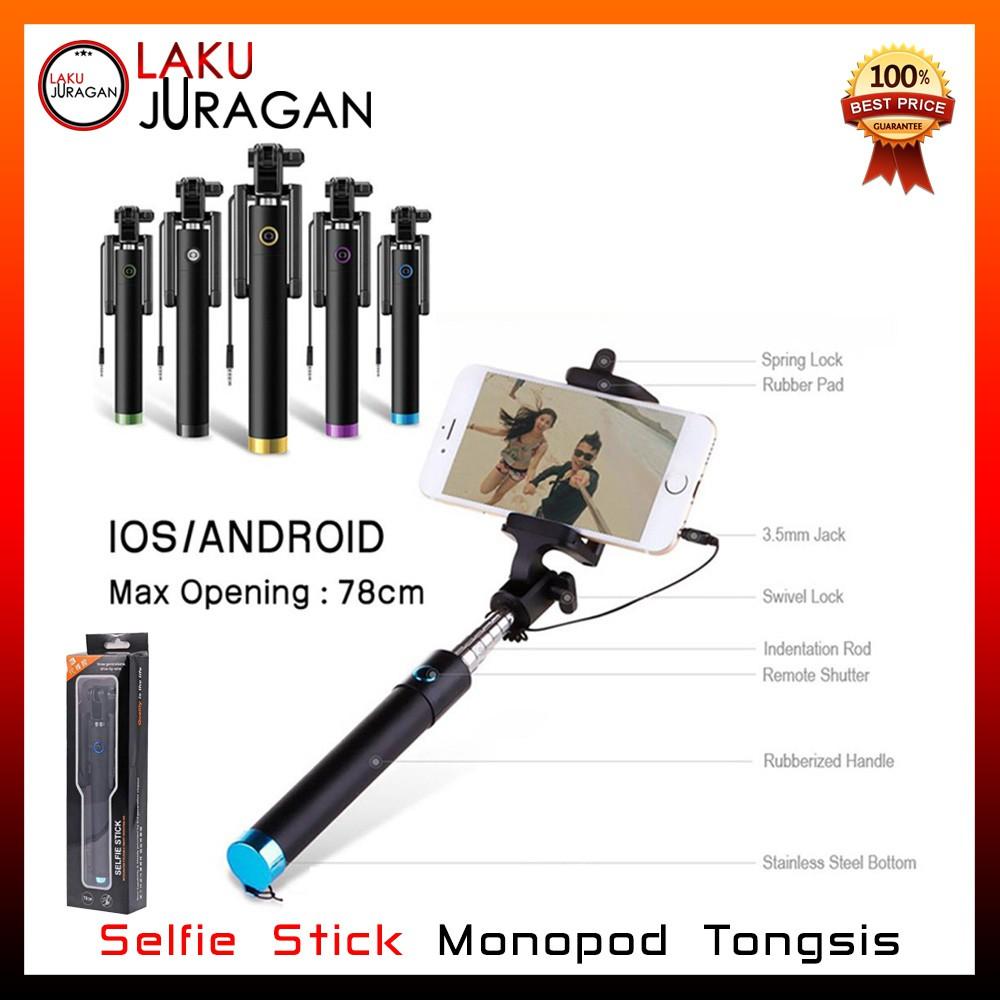 Jual Beli Produk Tongsis Stick Tripod Handphone Aksesoris 3 In 1 Bluetooth Shutter Shopee Indonesia