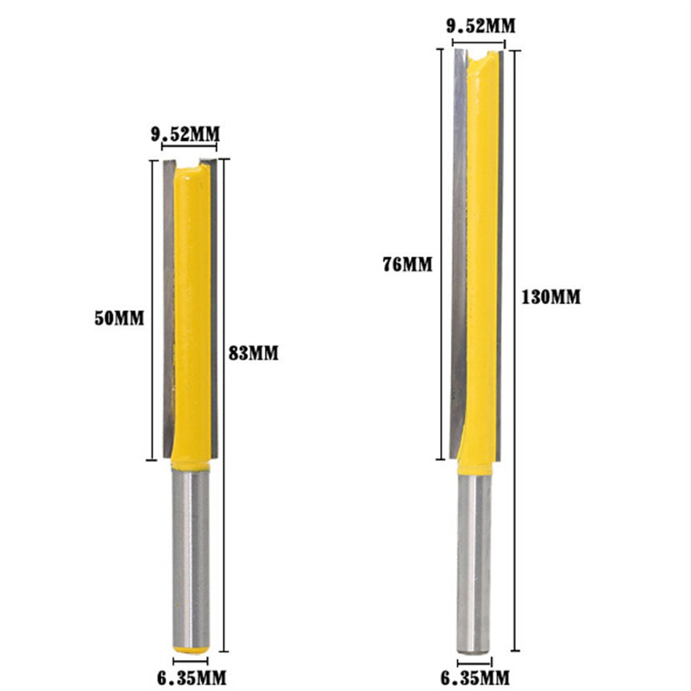 "1pcs Extra Long Flush Trim Router Bit 8mm Shank 3//8 Cutting Diam 2/"" Blade"