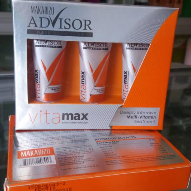 BERKUALITAS MAKARIZO ADVISOR VITAMAX HAIR RECOVERY 8 ML (VITAMIN RAMBUT) READY | Shopee Indonesia