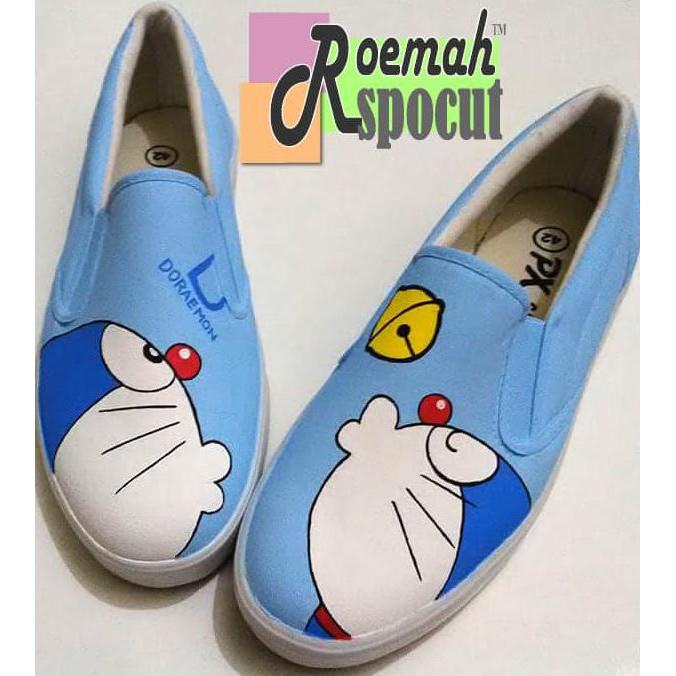 Best Sepatu Lukis Doraemon Rs 45 Shopee Indonesia