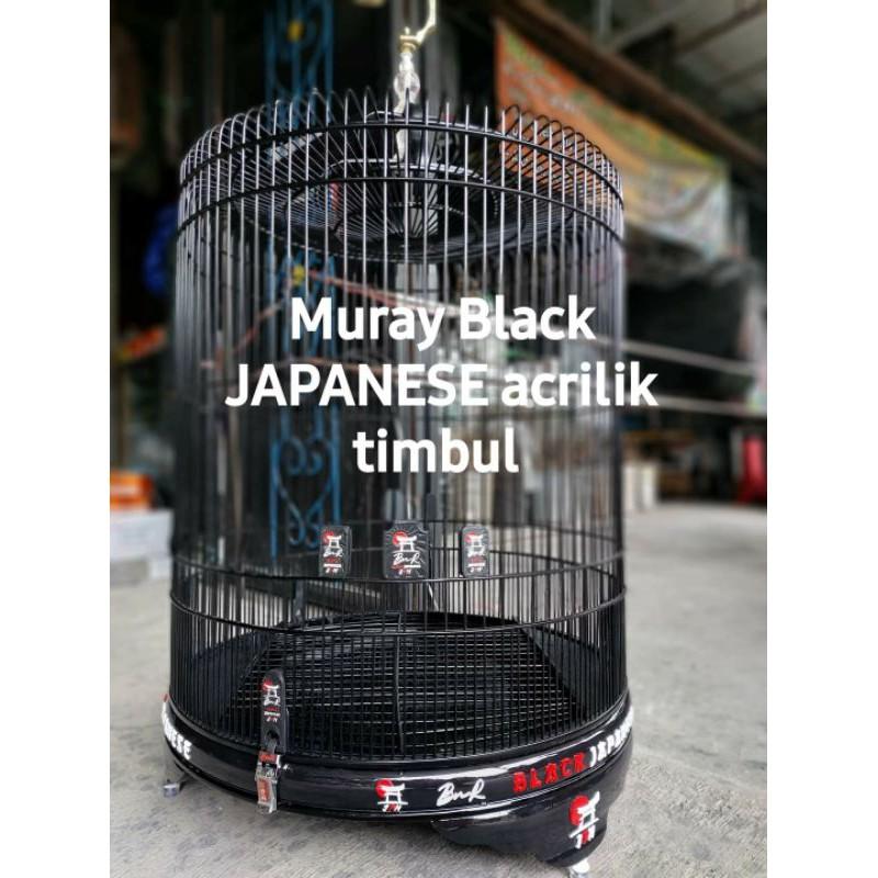 SANGKAR MURAI BATU BnR BLACK JAPANESE ACRILIK TIMBUL