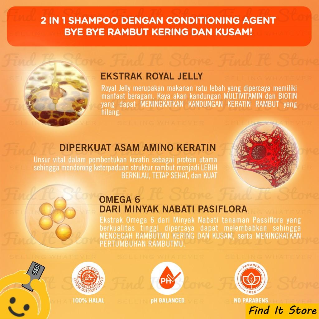 Makarizo Hair Energy Fibertherapy Conditioning Shampoo 10ml 10 ml Sampo Pembersih Rambut 2in1-3