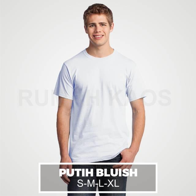Kaos Polos Grosir Lusin Combed 30s Putih Shopee Indonesia