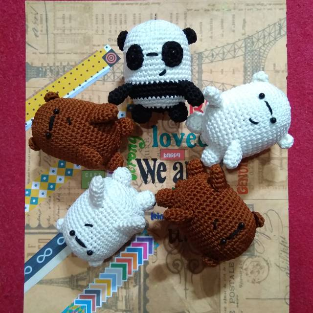 AMIGURUMI PANDA | WE BARE BEARS | FREE PATTERN CROCHET - YouTube | 640x640