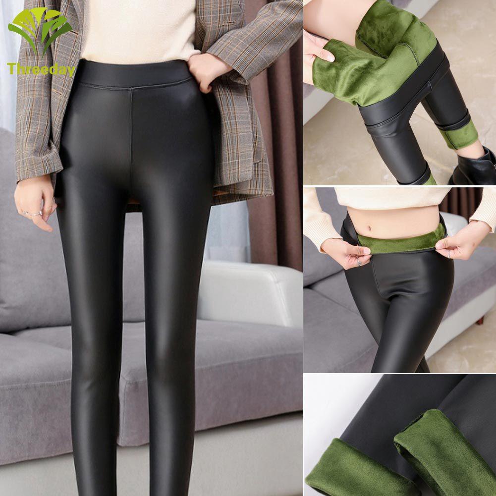 Celana Legging Panjang Bahan Kulit Pu Tebal Elastis 3d Untuk Wanita Shopee Indonesia