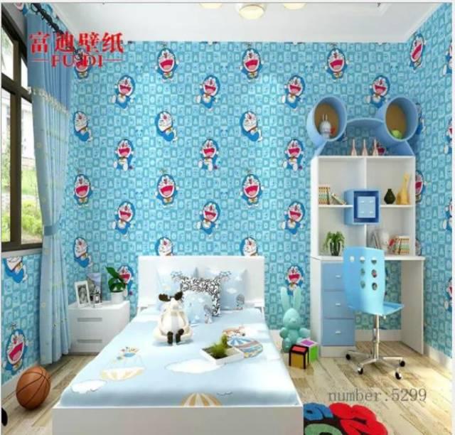 Wallpaper Dinding Ruang Tamu Rumah Kamar Tidur Anak Doraemon Biru Terbagus Terlaris Murah Lucu Indah Shopee Indonesia