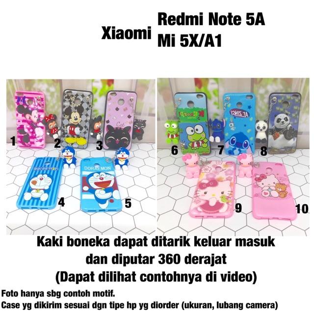 Softcase boneka standing Xiaomi Redmi Mi 5X A1 doraemon case panda minnie  stitch keropi  9cf508e968