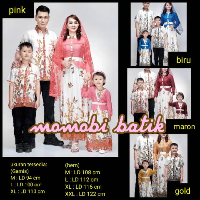 Batik Couple Sarimbit Keluarga Gamis Syari Baju Muslim Atasan Batik Solo Ecer Grosir Murah Kanaya