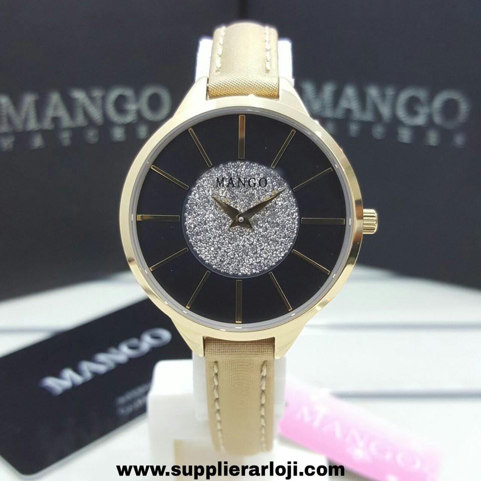 Jam Tangan Mango Ma6672l25 Shopee Indonesia Wanita Orange Leather Strap Ma6672l 25