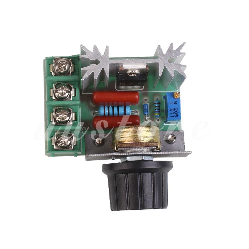 Dimmer Scr 2000w Regulator Voltage Kecepatan Motor Speed Suhu Pemanas Shopee Indonesia