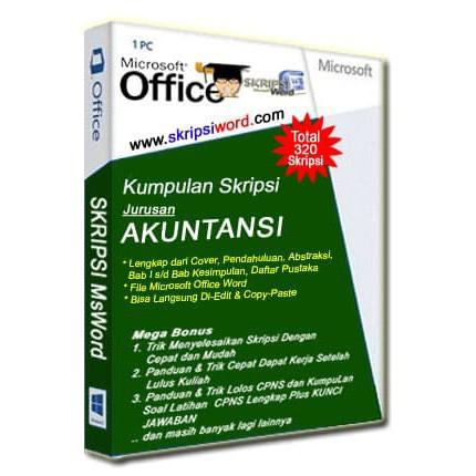 Kumpulan Skripsi Msword Akuntansi Sudah Dalam Bentuk File Microsoft Word Gampang Di Copy Paste Shopee Indonesia