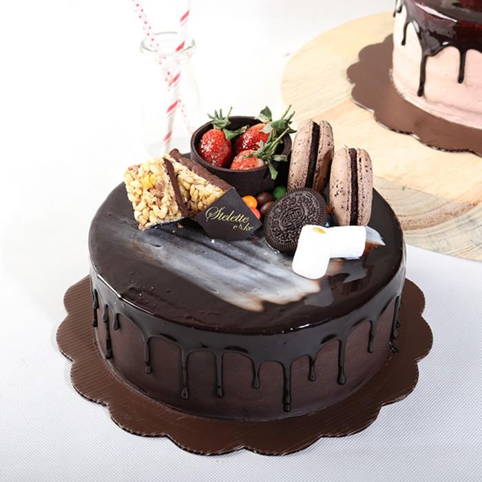 Unik Chocolate Fudge Birthday Cake Ukuran 20 Cm Kue Ulang