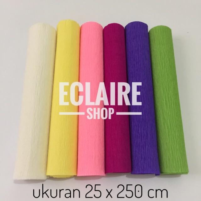 Crepe Paper Import Premium - Kertas Krep Impor Tebal LIMITED STOCK (25 x 250)   11c7b01e04