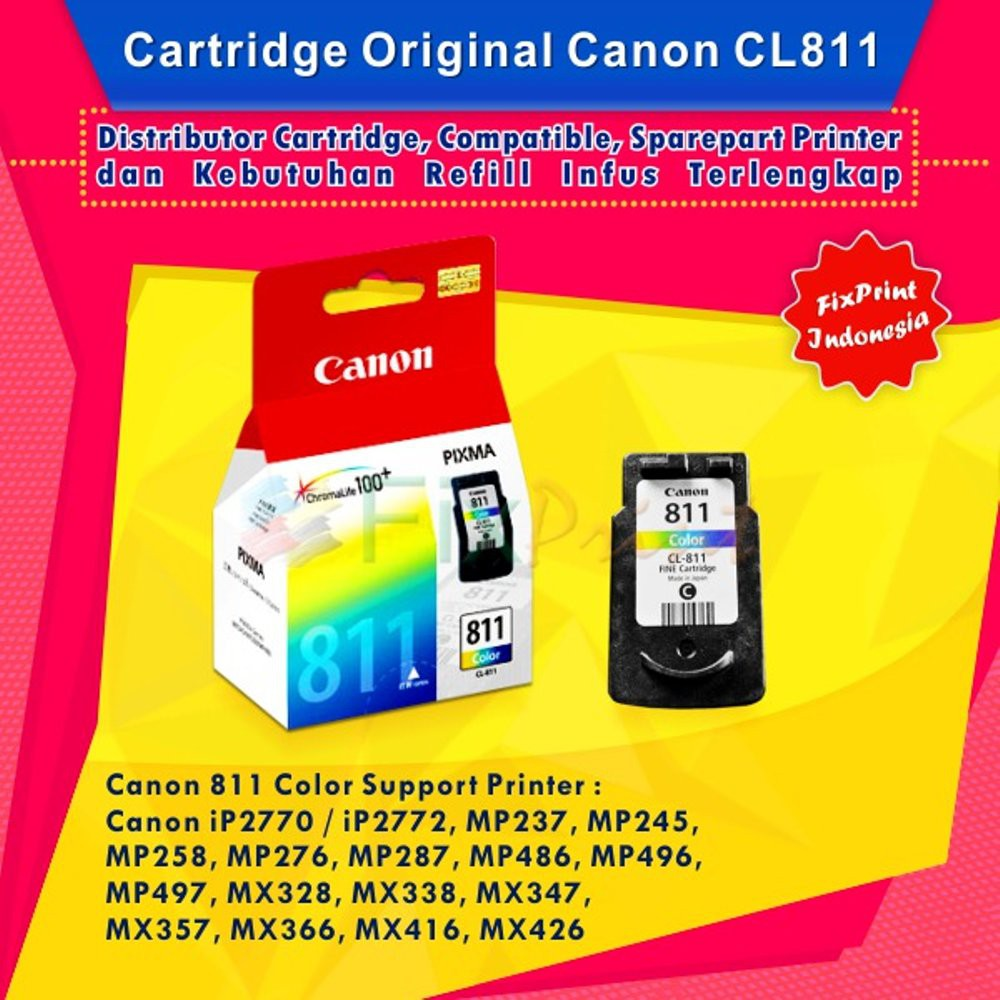 Ready Stock Cartridge Canon Cl811 Color Original Ip2770 Mp258 Cl 811 Mp287 Mp237 Shopee Indonesia