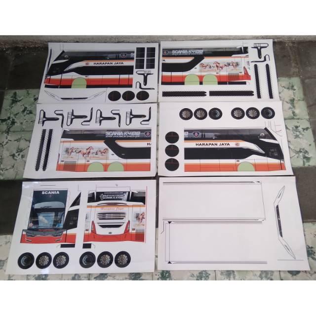 Lembaran Papercraft Bus Skala 1 20 Berbagi Macam Model Po Bus Di Indonesia Shopee Indonesia