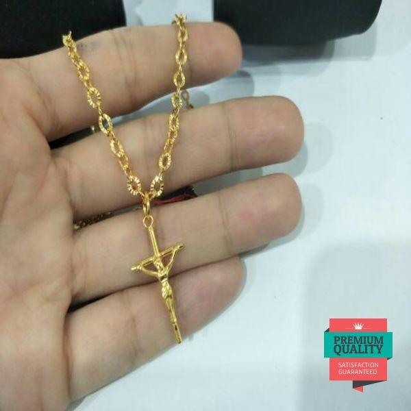 Grosir Kalung salib emas asli kadar 875 Elegan