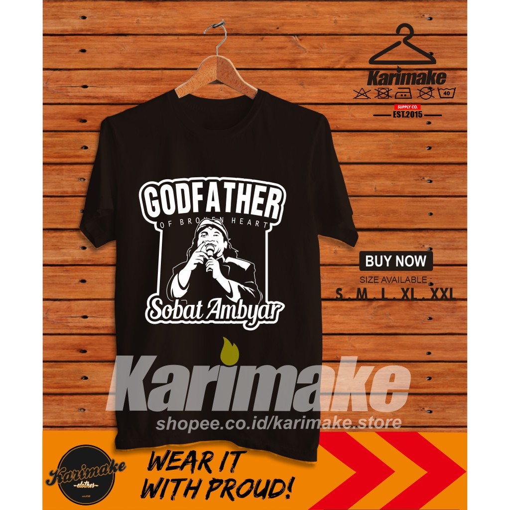 Kaos Baju Didi Kempot Sobat Ambyar God Father Of Broken Heart Kaos