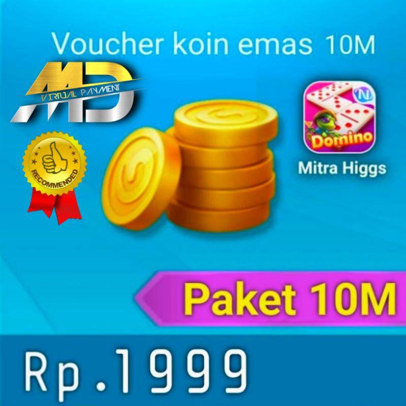 Chip Coin Higgs Domino Island Paket 10M MD Termurah