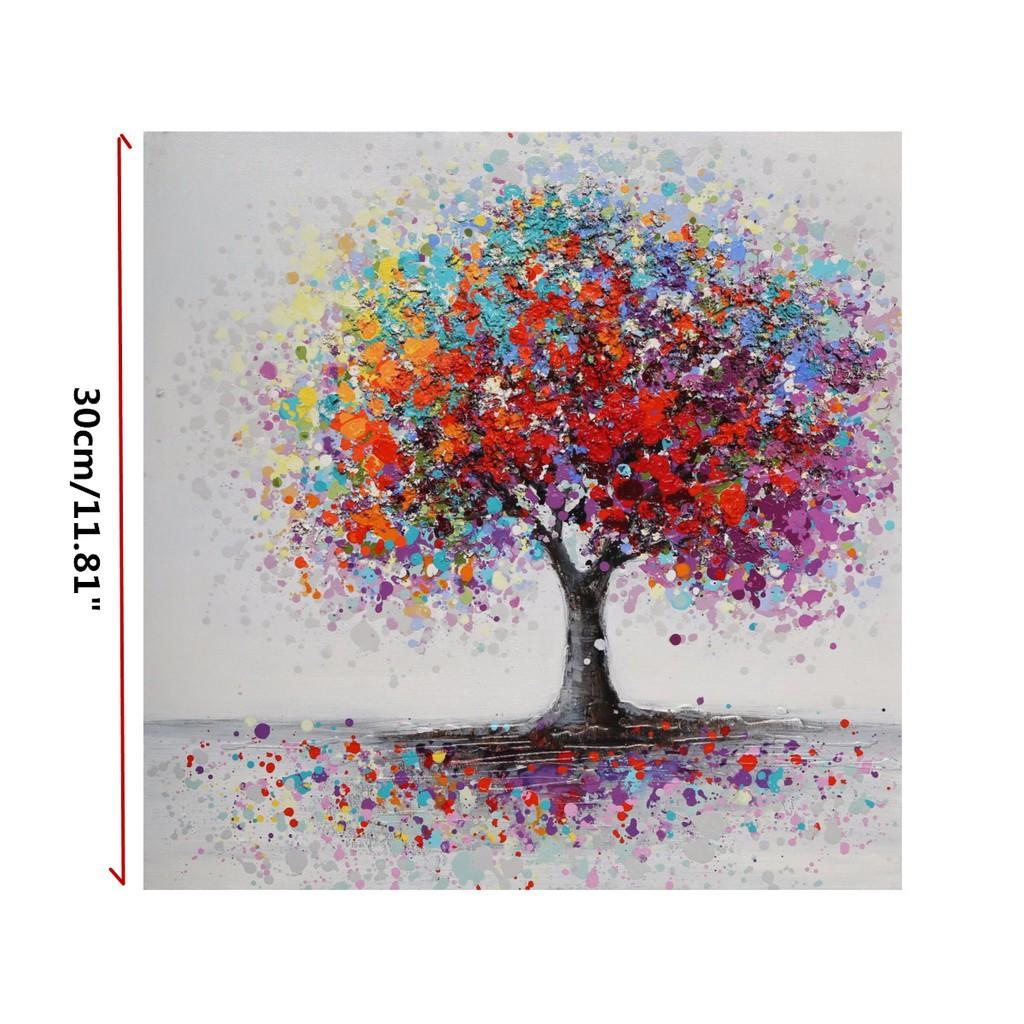 Wonderland Lukisan Dengan Bahan Kanvas Gambar Pohon Dan Abstrak